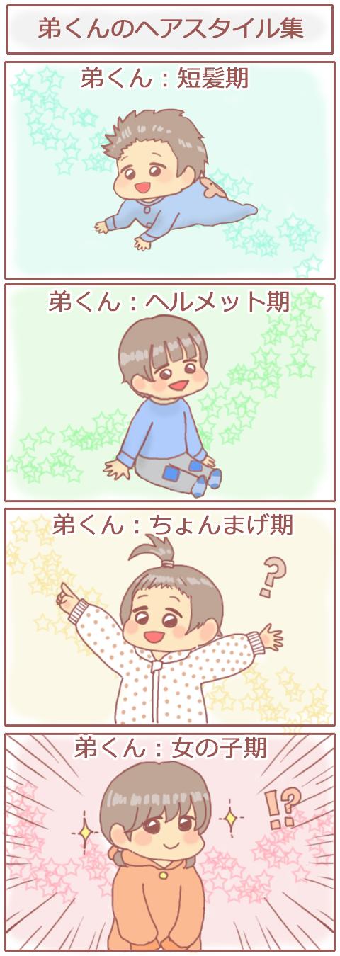 4コマ【弟くんのヘアスタイル集。】